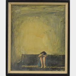Continental/American School, 20th Century      Weeping Woman