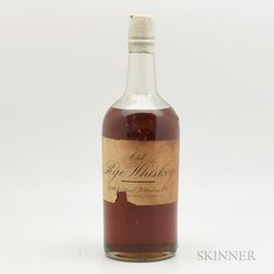 Old Rye Whiskey, 1 quart bottle