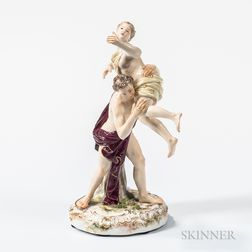 Meissen Porcelain Classical Figure Group of the Rape of Proserpine