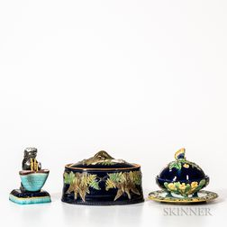 Three English Majolica Items