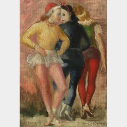 Jon Corbino (Italian/American, 1905-1964)  American Ballet - Billy the Kid Dance Hall Girls