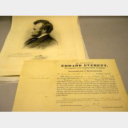Edward Everett Signed Document