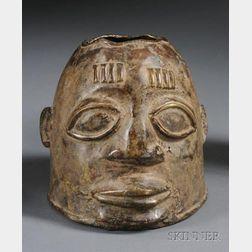 African Cast Brass Head