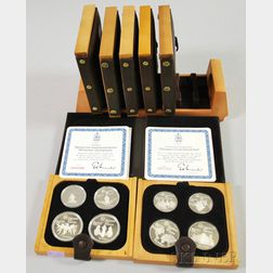 1976 Winter Olympic Sterling Silver Coin Set