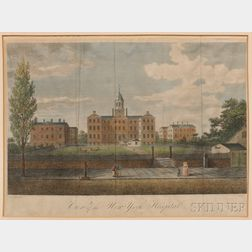 After John Robert Murray (American, 1774-1851)      View of the New-York Hospital