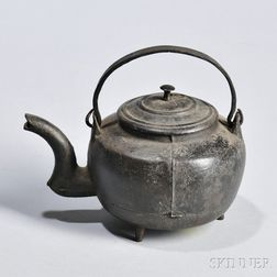 Miniature Cast Iron Hot Water Kettle