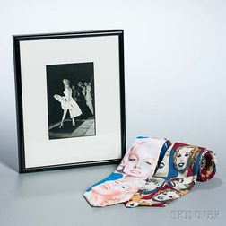 Two Marilyn Monroe Neckties and a Framed Photograph