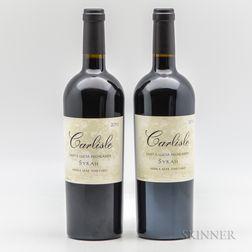 Carlisle Syrah Sierra Mar Santa Lucia Highlands, 2 bottles