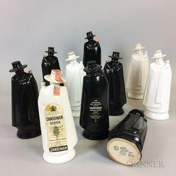 Ten Wedgwood Ceramic Sandeman Don Decanters