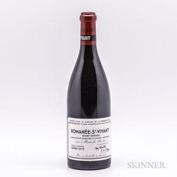 Domaine de la Romanee Conti Romanee St. Vivant 2010, 1 bottle