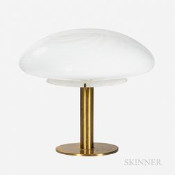 Modern Table Lamp with Glass Dome Shade
