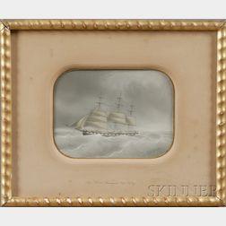 Eugene Grandin (French, 1833-1919)      Ship Charles Davenport  , Cap'n Kelly.