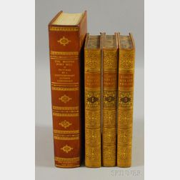Sets, Fine Leather Bindings, Four Volumes: