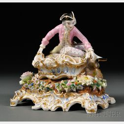Jacob Petit-style Porcelain Figural Sweetmeat Dish