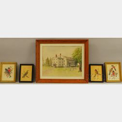 Five Assorted Framed Works