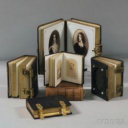 Six 19th Century Portrait Photograph Albums