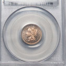 1879 Three Cent Nickel Trime, PCGS PR66CAM CAC.