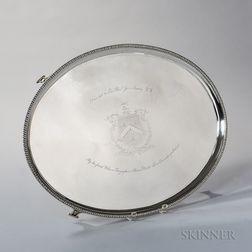 George III Irish Sterling Silver Presentation Tray
