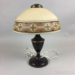 Modern Glass and Metal Table Lamp