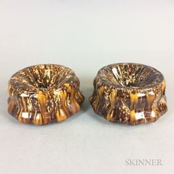 Two Bennington Rockingham-glazed Ceramic Spittoons