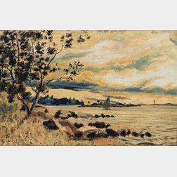 Louis Michel Eilshemius (American, 1864-1941)      Landscape with River