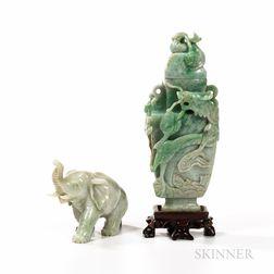 Two Jadeite Carvings