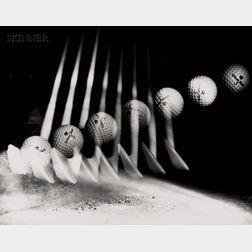 Harold Eugene Edgerton (American, 1903-1990)      Lot of Two Golf Images.