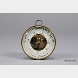 French Aneroid Barometer Retailed by Abercrombie & Fitch
