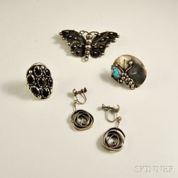 Four Pieces of Sterling Silver Jewelry