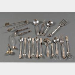 Nineteen American Silver Flatware Items