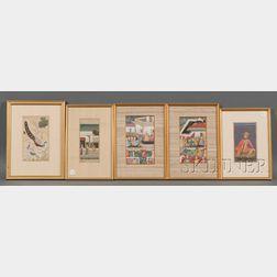 Five Miniature Paintings