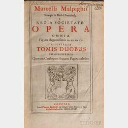 Malpighi, Marcello (1628-1694) Opera Omnia