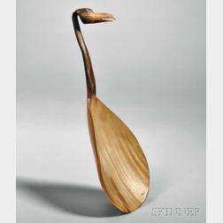 Plains Carved Horn Bird Effigy Ladle