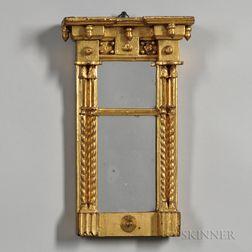 Miniature Federal Gilt Mirror