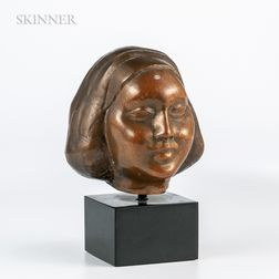 William Zorach (American, 1887-1966)    Head of a girl