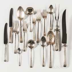 """Towle """"Craftsman"""" Pattern Sterling Silver Flatware Service"""