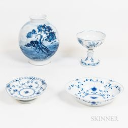 Six Pieces of Continental Porcelain