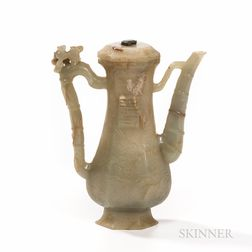 Nephrite Jade Ewer and Cover