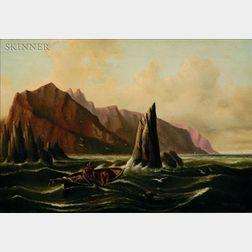 Charles Henry Gifford (American, 1839-1904)    Shore Scene