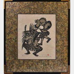 Mori Yoshitoshi (1898-1992) Woodblock Print