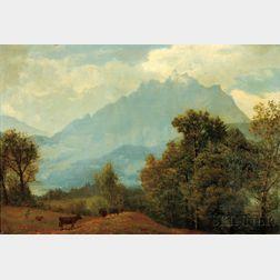 Albert Bierstadt (American, 1830-1902)      Pilatus, Switzerland