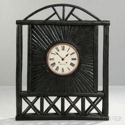 Adirondack-style Wood Wall Clock