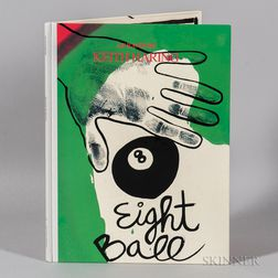Keith Haring (American, 1958-1990)      Autographed Copy of the Book Eight Ball