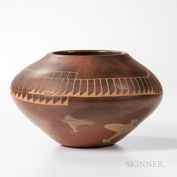 Contemporary Santa Clara Pottery Vessel