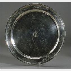 Tiffany & Co. Sterling Round Serving Tray