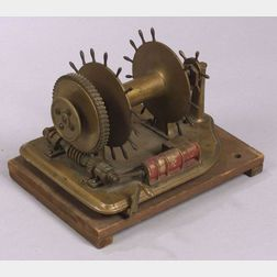 Brass Engineering Model of a Mechanical Windlass by Joseph P. Manton