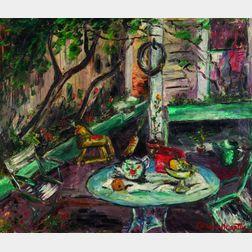 Caroline Louise Martin (American, 1903-1993)    The Patio Garden