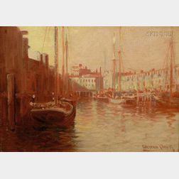 C. Myron Clark (American, 1876-1925)      Boston Harbor