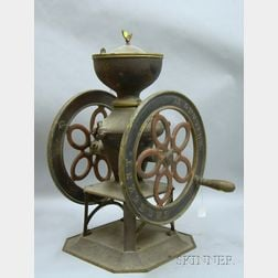 Crescent Painted Cast Iron Coffee Mill