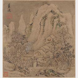 Painting Album of Twelve Landscapes